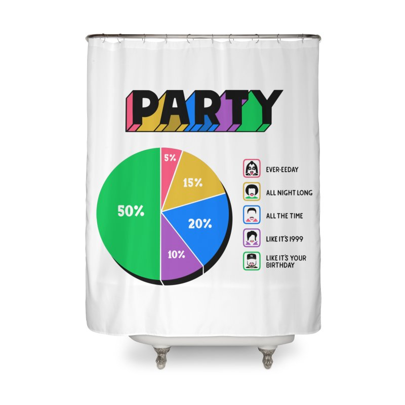 Party Charty Home Shower Curtain by Ibyes