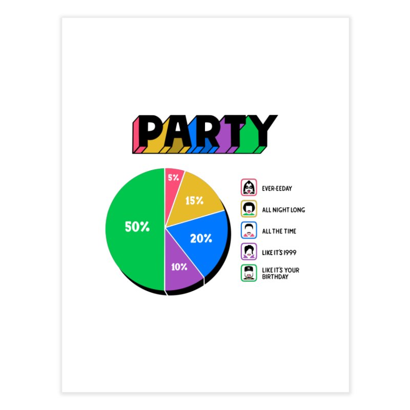 Party Charty Home Fine Art Print by Ibyes