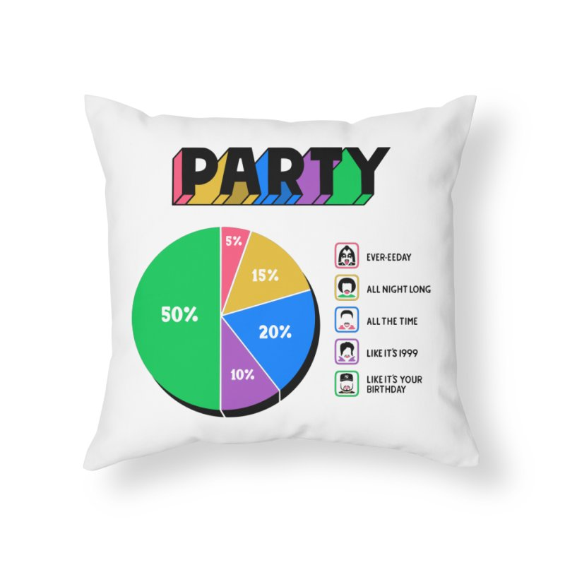 Party Charty Home Throw Pillow by Ibyes