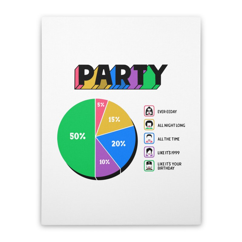 Party Charty Home Stretched Canvas by Ibyes