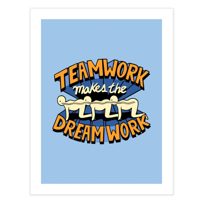 Teamwork Home Fine Art Print by Ibyes