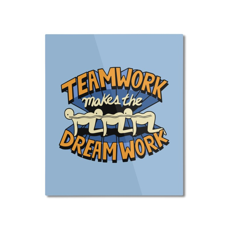 Teamwork Home Mounted Aluminum Print by Ibyes