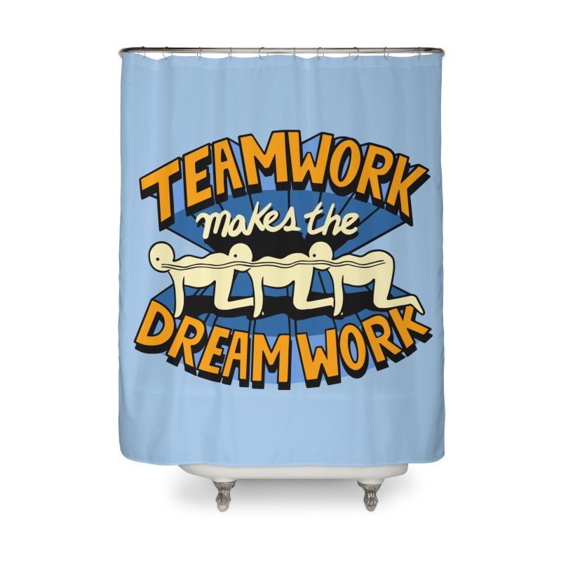 Teamwork Home Shower Curtain by Ibyes