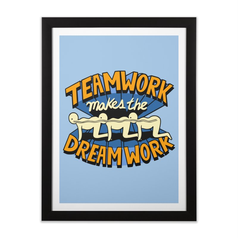 Teamwork Home Framed Fine Art Print by Ibyes