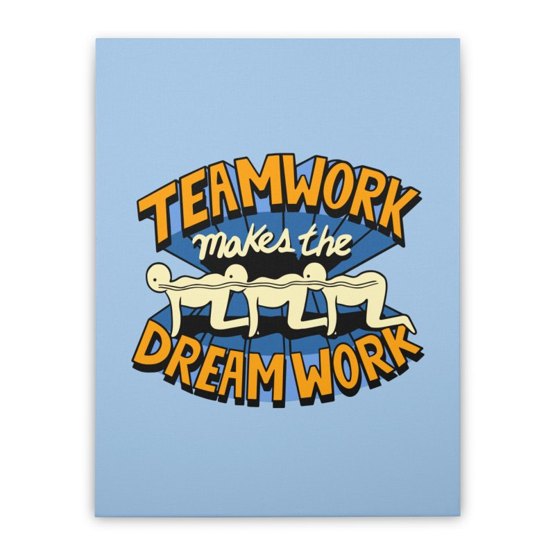 Teamwork Home Stretched Canvas by Ibyes