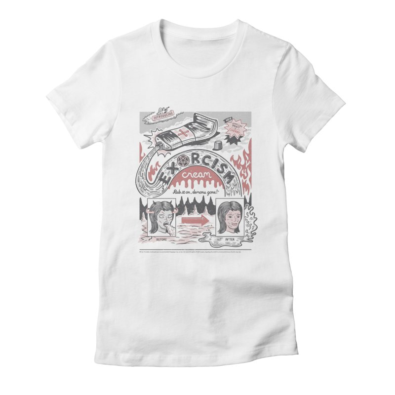 Exorcism Cream Women's Fitted T-Shirt by Ibyes