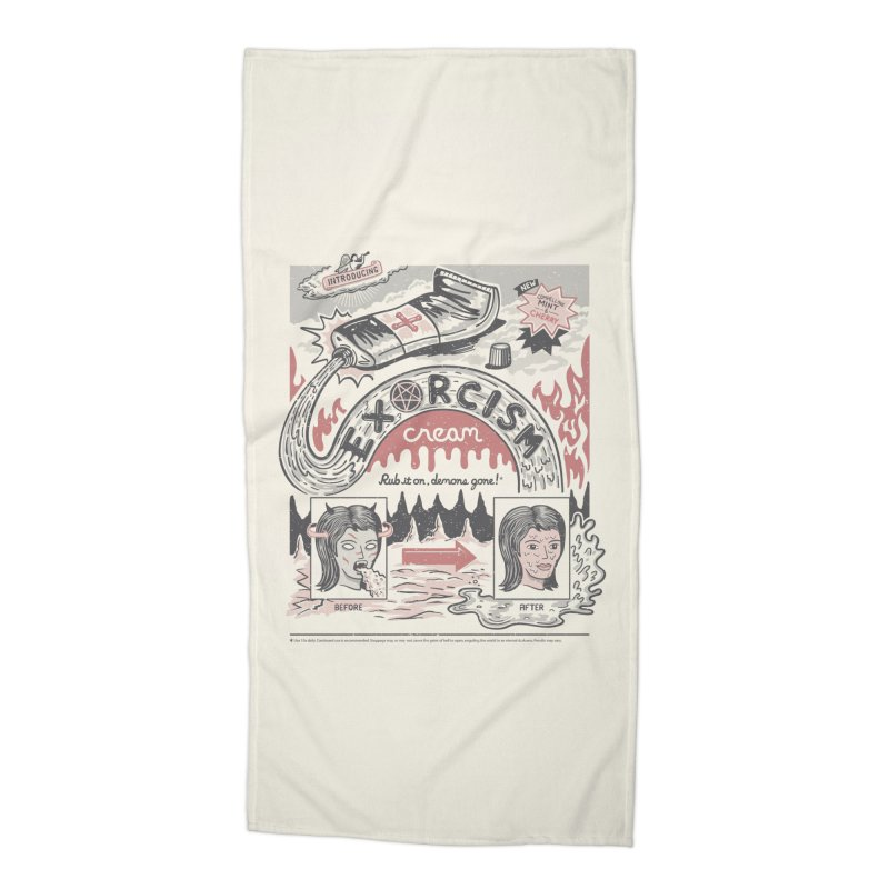 Exorcism Cream Accessories Beach Towel by Ibyes
