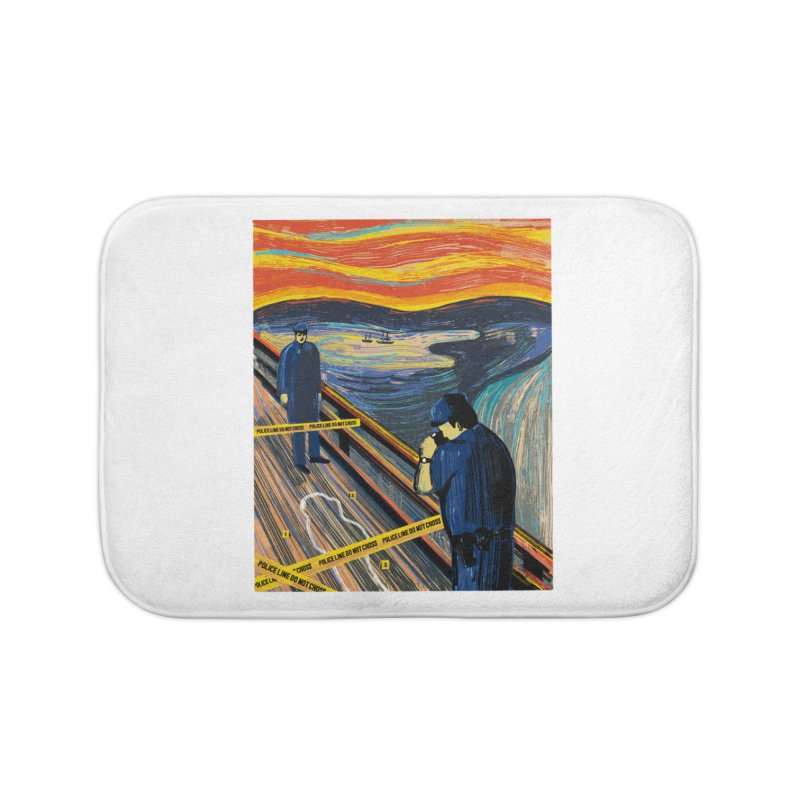 Crime Scream Home Bath Mat by Ibyes