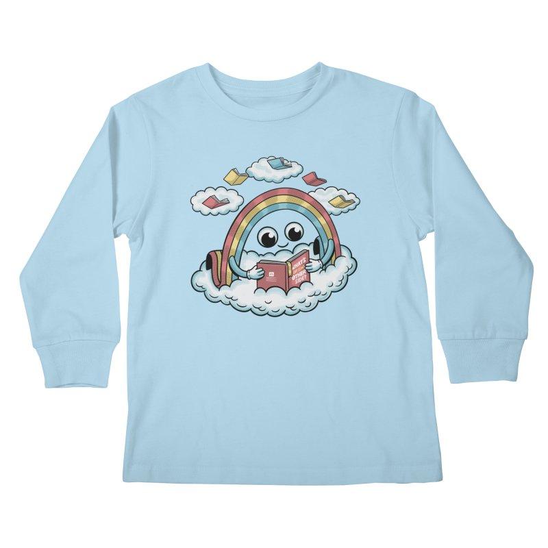 Rainbow Reading Kids Longsleeve T-Shirt by Ibyes
