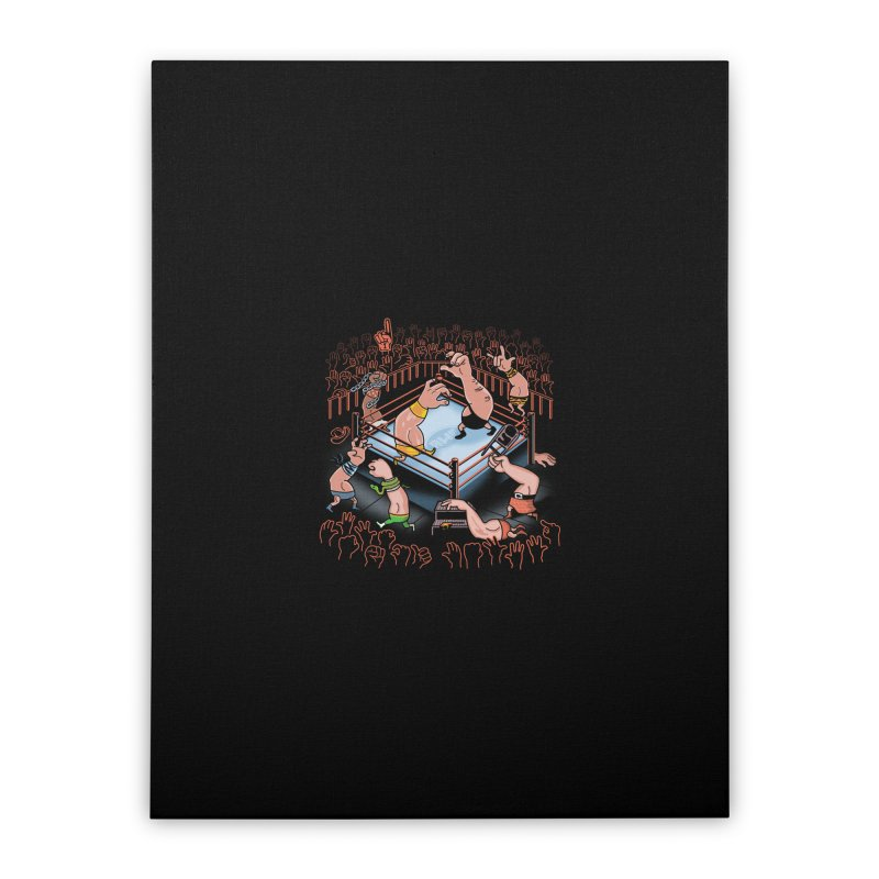 Arm Wrestle Mania Home Stretched Canvas by Ibyes