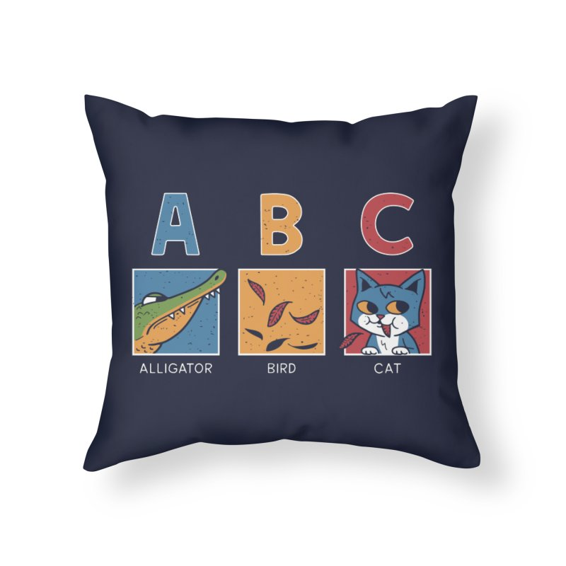 A-B See Ya! Home Throw Pillow by Ibyes