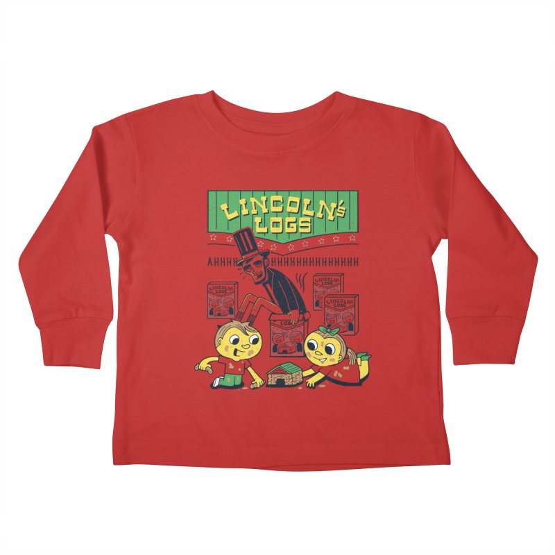 Lincoln's Logs Kids Toddler Longsleeve T-Shirt by Ibyes