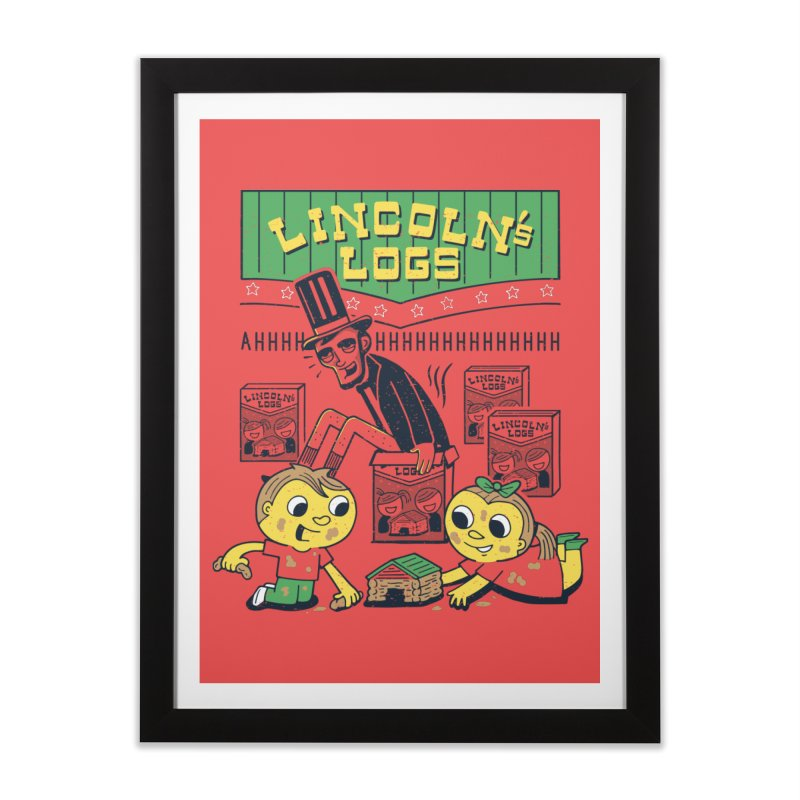 Lincoln's Logs Home Framed Fine Art Print by Ibyes