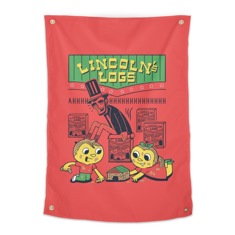 Lincoln's Logs Home Tapestry by Ibyes
