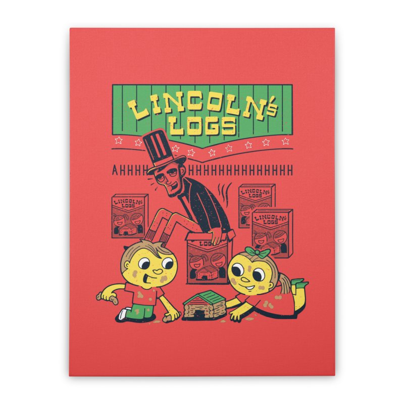 Lincoln's Logs Home Stretched Canvas by Ibyes