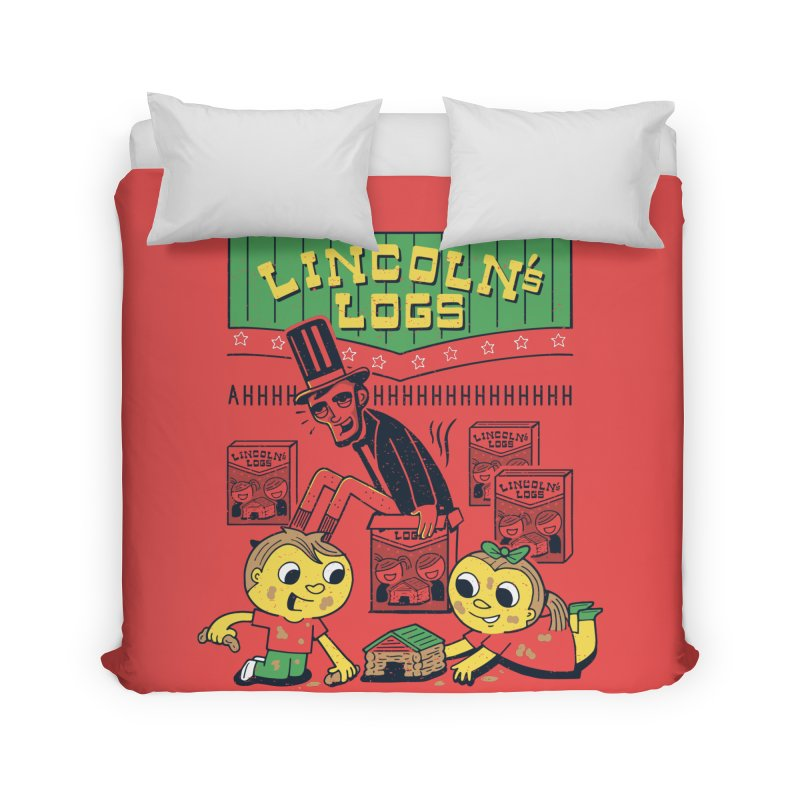 Lincoln's Logs Home Duvet by Ibyes