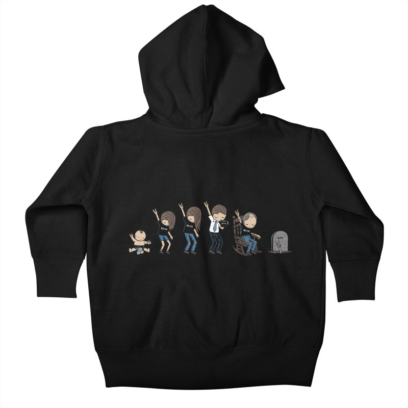Rock of Stages Kids Baby Zip-Up Hoody by Ibyes