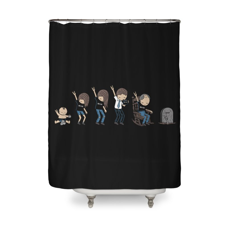 Rock of Stages Home Shower Curtain by Ibyes