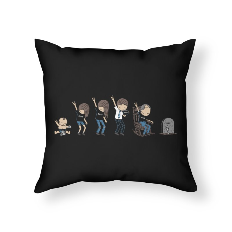 Rock of Stages Home Throw Pillow by Ibyes