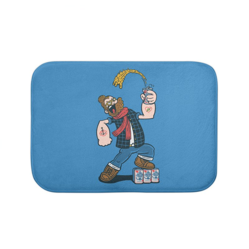 Hipster Man Home Bath Mat by Ibyes