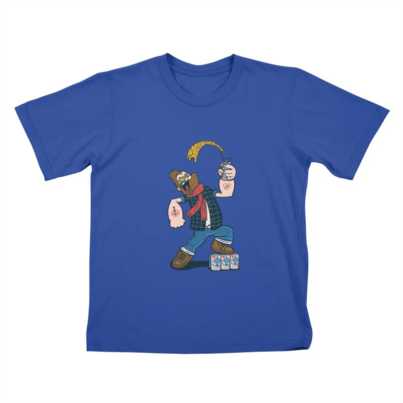Hipster Man Kids T-Shirt by Ibyes