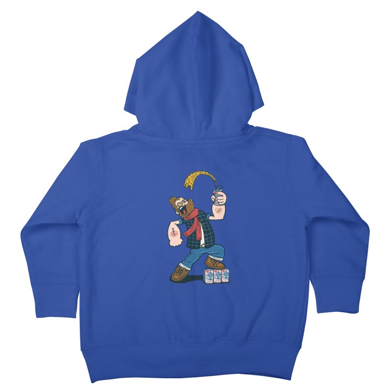 Hipster Man Kids Toddler Zip-Up Hoody by Ibyes
