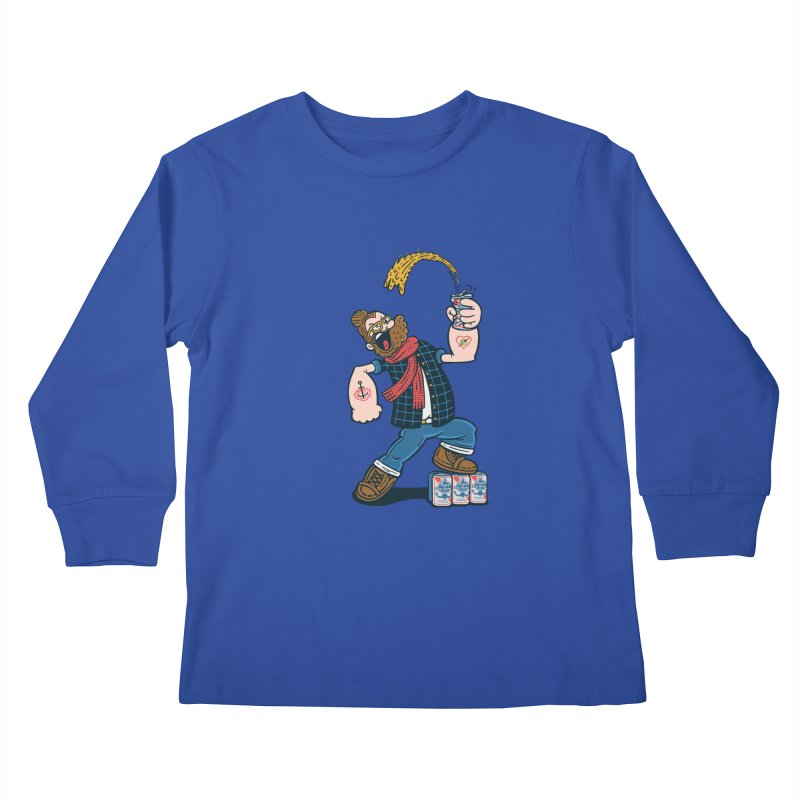 Hipster Man Kids Longsleeve T-Shirt by Ibyes