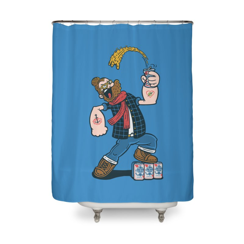 Hipster Man Home Shower Curtain by Ibyes