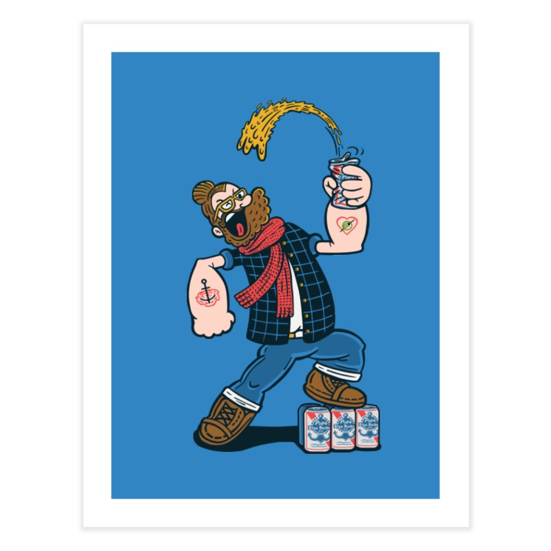 Hipster Man Home Fine Art Print by Ibyes