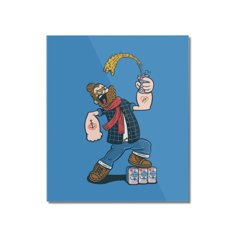 Hipster Man Home Mounted Acrylic Print by Ibyes