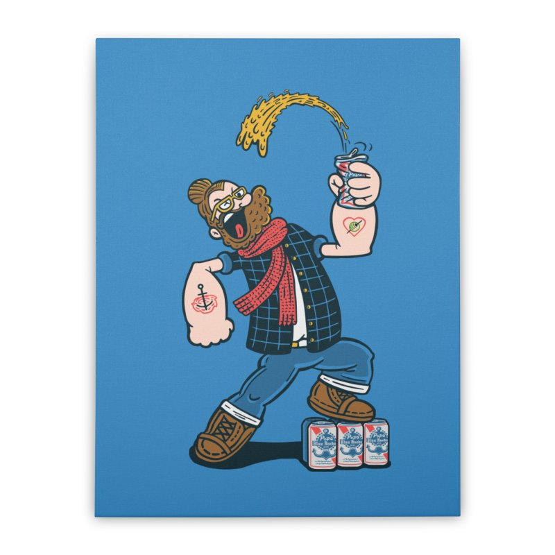 Hipster Man Home Stretched Canvas by Ibyes