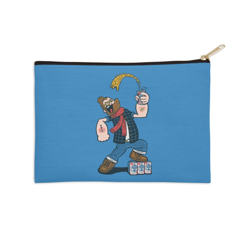 Hipster Man Accessories Zip Pouch by Ibyes