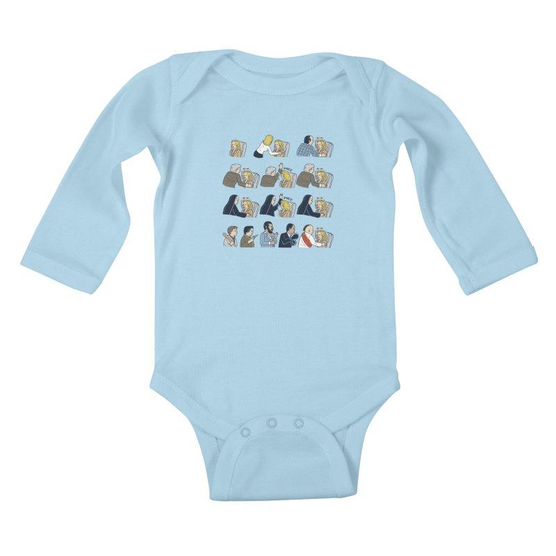 Don't Panic Kids Baby Longsleeve Bodysuit by Ibyes