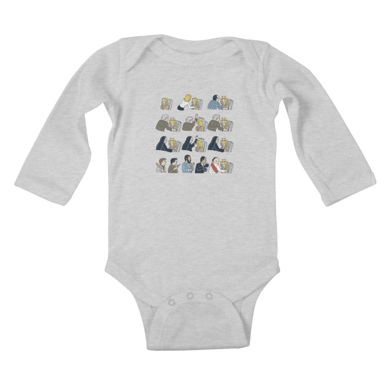 Don't Panic Kids Baby Longsleeve Bodysuit by Ibyes