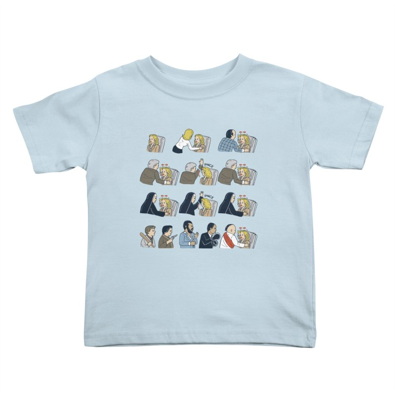 Don't Panic Kids Toddler T-Shirt by Ibyes