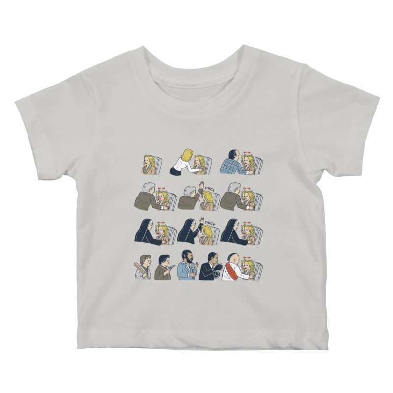 Don't Panic Kids Baby T-Shirt by Ibyes