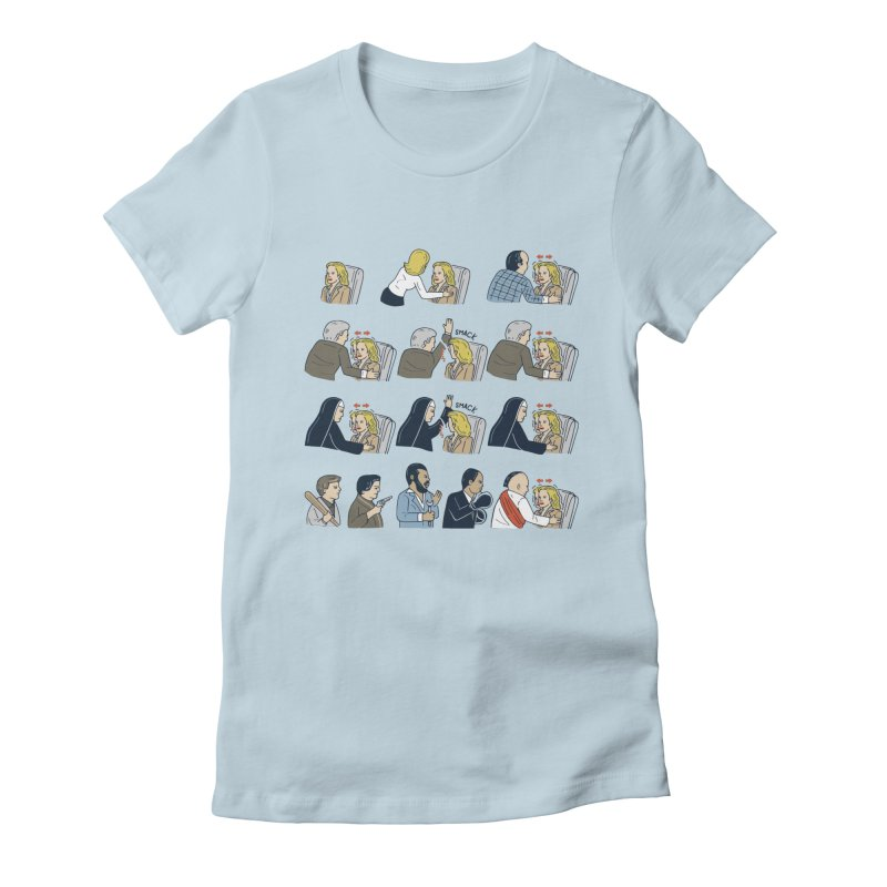 Don't Panic Women's Fitted T-Shirt by Ibyes