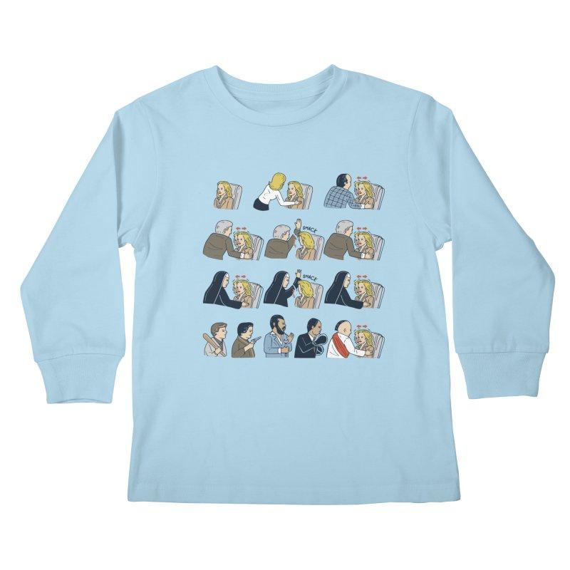Don't Panic Kids Longsleeve T-Shirt by Ibyes