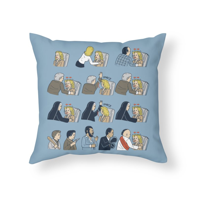 Don't Panic Home Throw Pillow by Ibyes
