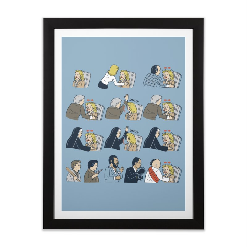 Don't Panic Home Framed Fine Art Print by Ibyes