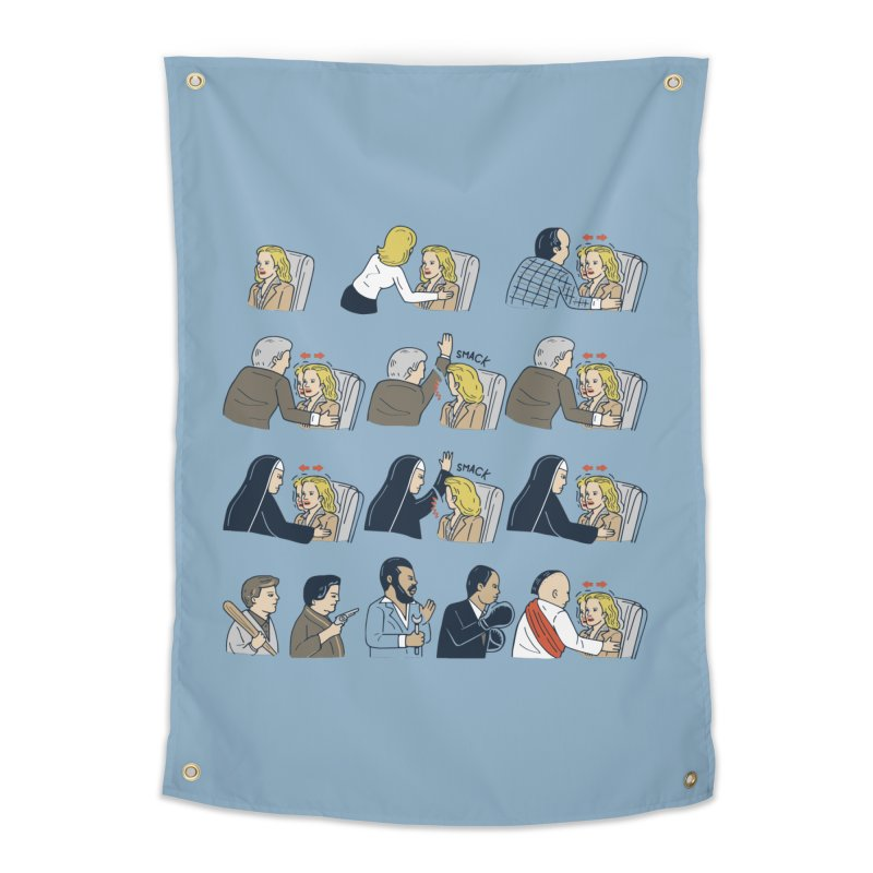 Don't Panic Home Tapestry by Ibyes