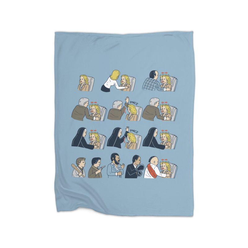 Don't Panic Home Fleece Blanket by Ibyes