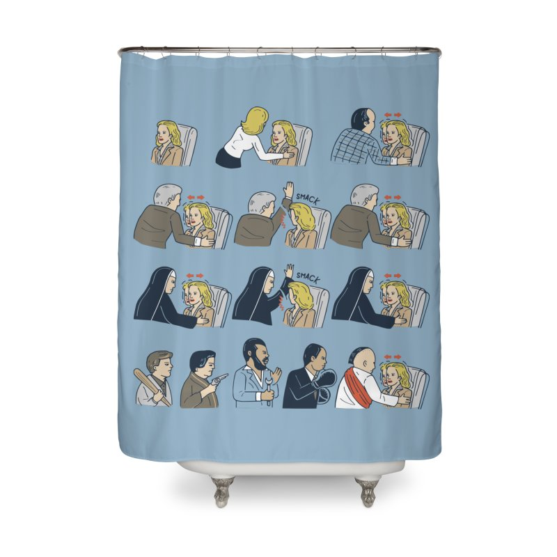 Don't Panic Home Shower Curtain by Ibyes