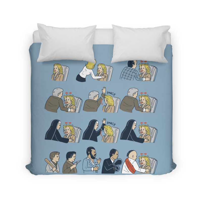 Don't Panic Home Duvet by Ibyes