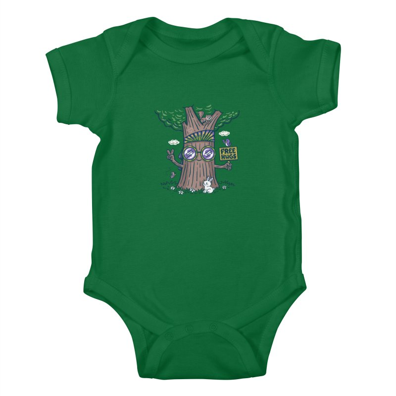 Tree Hugger Kids Baby Bodysuit by Ibyes