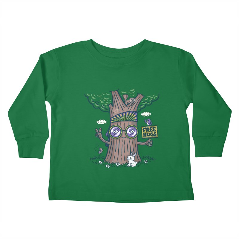 Tree Hugger Kids Toddler Longsleeve T-Shirt by Ibyes