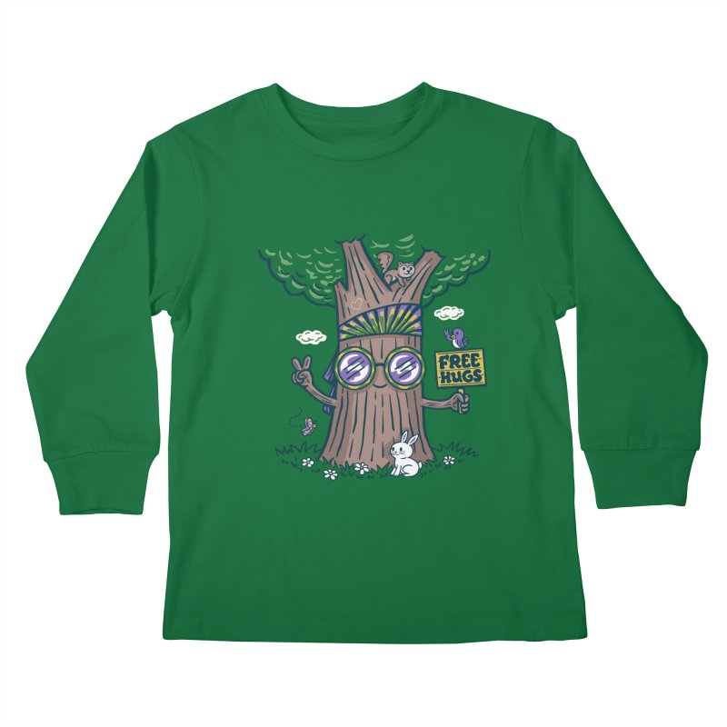 Tree Hugger Kids Longsleeve T-Shirt by Ibyes