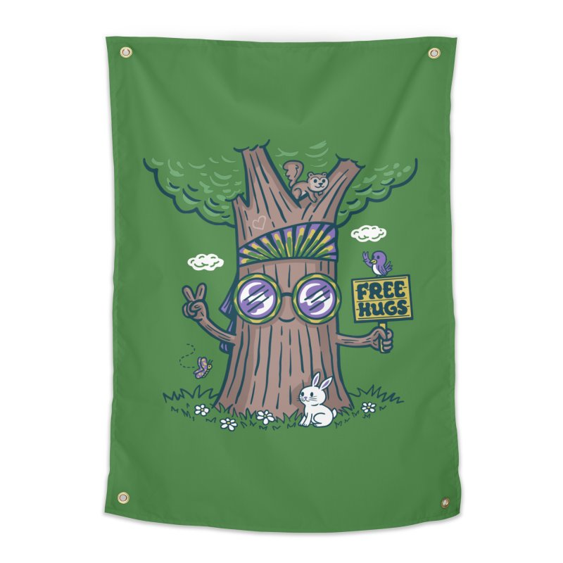 Tree Hugger Home Tapestry by Ibyes