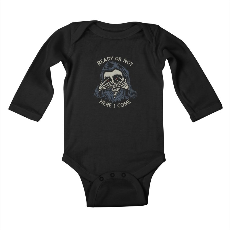 Grim Seeker Kids Baby Longsleeve Bodysuit by Ibyes