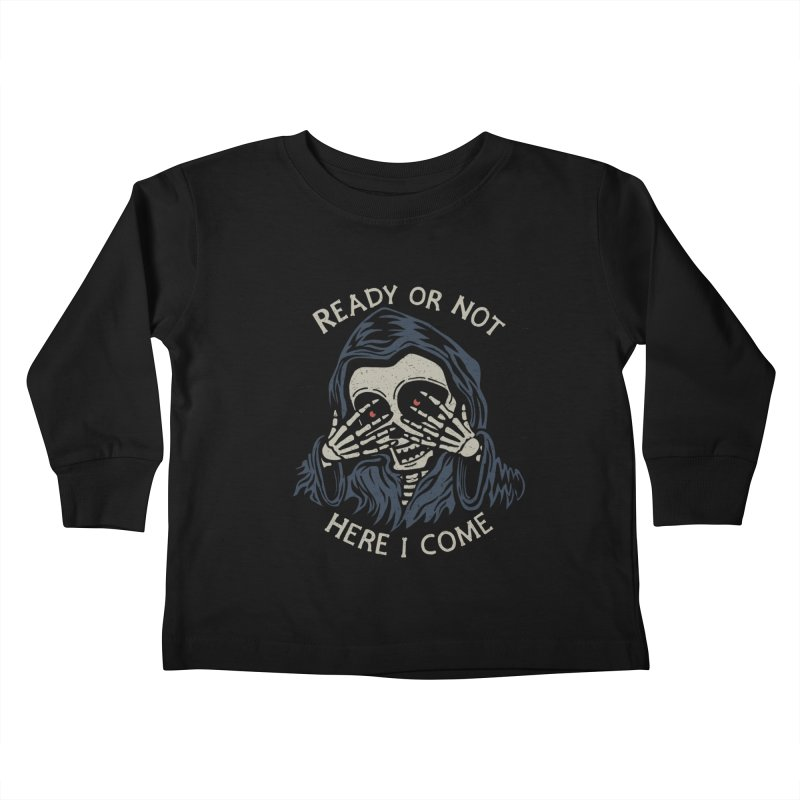 Grim Seeker Kids Toddler Longsleeve T-Shirt by Ibyes